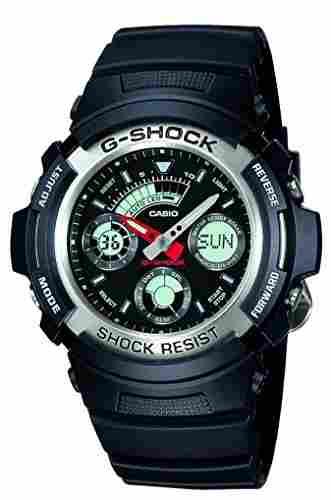Casio G-Shock AW-590-1ADR (G219) Analog Digital Black Dial Men's Watch