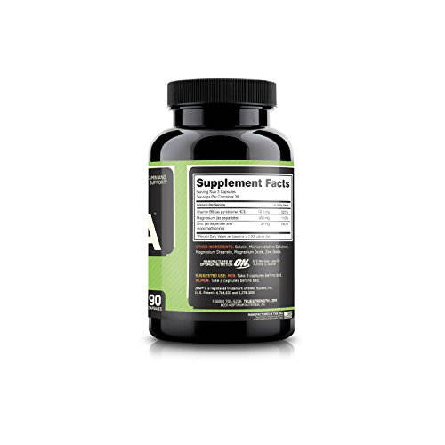 Optimum Nutrition ZMA Supplements (90 Capsules)