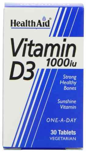 Health Aid Vitamin D3 1000Iu Supplements (30 Capsules)