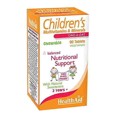 Health Aid Childrens Chewable Multi Vitamin And Minerals (90 Capsules)