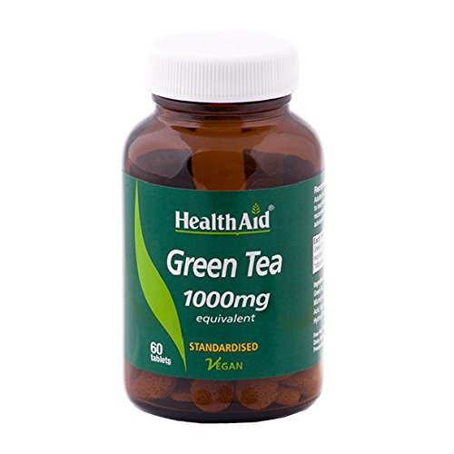 Health Aid Green Tea 1000mg Equivalent Supplements (60 Capsules)