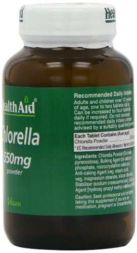 Health Aid Chlorella 550mg Equivalent Supplements (60 Capsules)