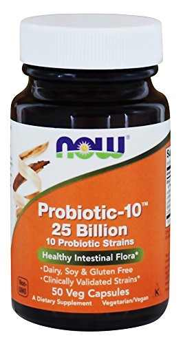 Now Foods Probiotic-10 25 Billion (50 Veg Capsules)