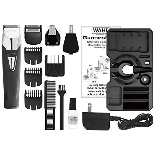 Wahl 9860700 All in One Rechargeable Grooming Kit Black & silver