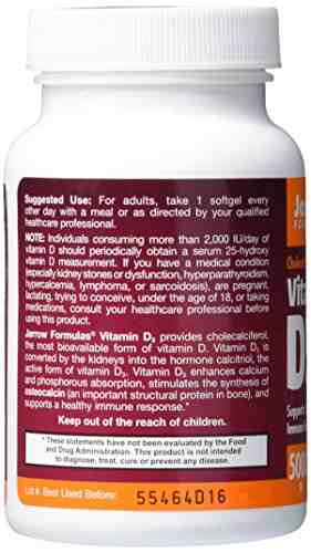 Jarrow Formulas Jarrow Formulas Vitamin D3 5000Iu Supplement (100 Capsules)
