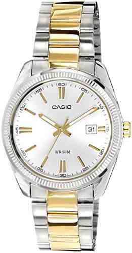 Casio Enticer MTP-1302SG-7AVDF (A491) Analog Silver Dial Men's Watch (MTP-1302SG-7AVDF (A491))