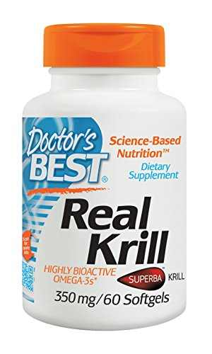 Doctor's Best Real Krill 350 mg Supplements (60 Softgels)