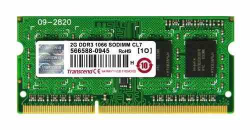 Transcend JetRam (JM1066KSN-2G) DDR3 2GB Laptop RAM