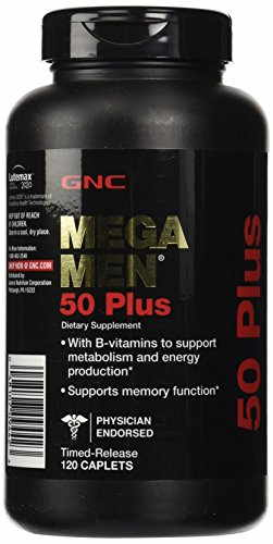 GNC Mega Men 50 Plus Supplements (120 Capsules)