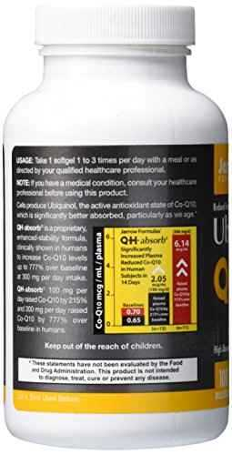 Jarrow Formulas Ubiquinol Qh-Absorb 100 mg Supplement (120 Capsules)