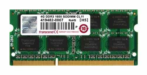 Transcend JetRam (JM1600KSN-4G) DDR3 4GB Laptop RAM