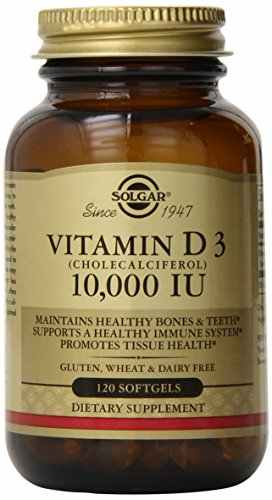 Solgar Vitamin D3 Cholecalciferol 10000 IU Supplement (120 Capsules)