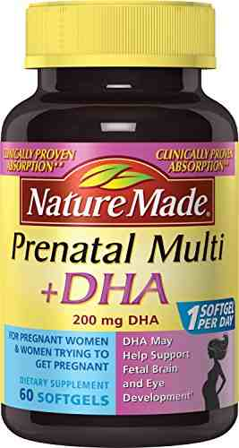 Nature's Made Prenatal Plus DHA 200 mg (60 Capsules)