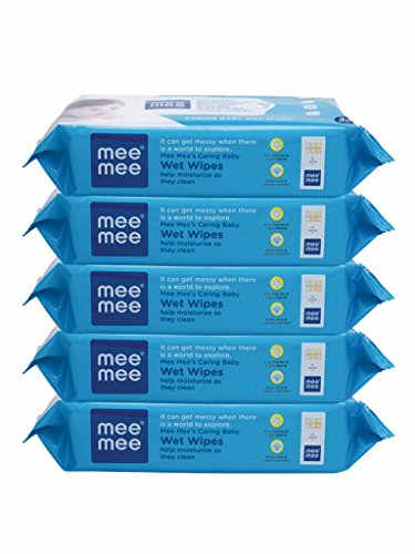 Mee Mee Caring Wet Baby Wipes, 30 Pieces (Pack Of 5)