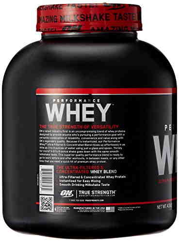 Optimum Nutrition Performance Whey Diet Supplements (1.95Kg, Chocolate)