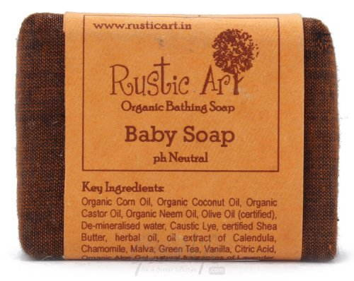 Rustic Art Organic Baby Soap, 100 GM