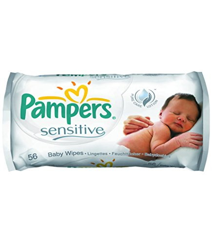Pampers Sensitive Wet Wipes, 56 Pieces