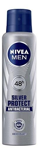Nivea Silver Antibacterial Protect Deodorant For Men, 150 ML