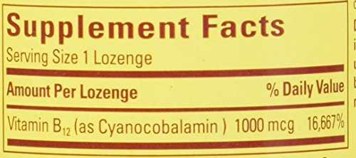 Nature's Made Vitamin B-12 Sublingual Cherry 1000mcg (50 Capsules)