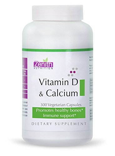 Zenith Nutrition Vitamin D And Calcium Supplements (300 Capsules)