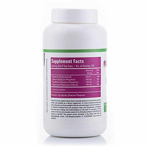Zenith Nutrition Vitamin D And Calcium Supplements (300 Capsules)