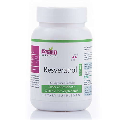 Zenith Nutrition Resveratrol 500mg Supplements (120 Capsules)