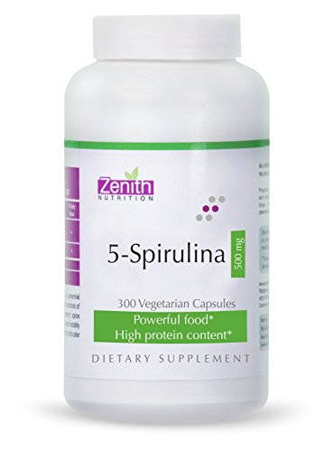 Zenith Nutrition 5 Spirulina 500 mg Supplements (300 Capsules)
