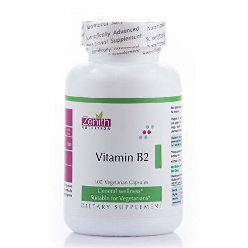 Zenith Nutrition Vitamin B2 Supplements (100 Capsules)