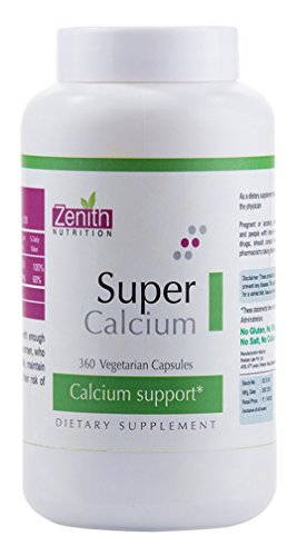 Zenith Nutrition Super Calcium 600mg Supplements (360 Capsules)