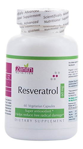 Zenith Nutrition Resveratrol 60 mg Supplements (60 Capsules)