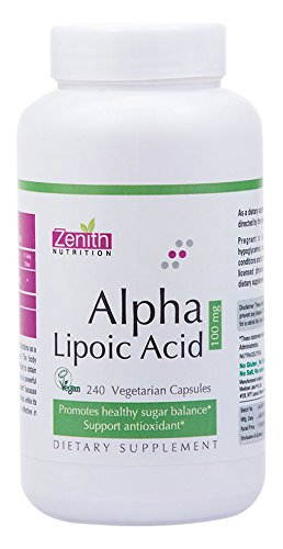 Zenith Nutrition Alpha Lipoic Acid 100mg Supplements (240 Capsules)