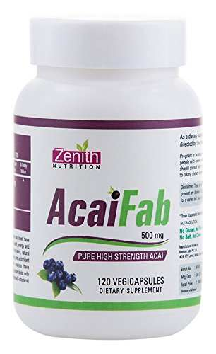 Zenith Nutrition Acai Fab 500 mg Supplements (120 Capsules)