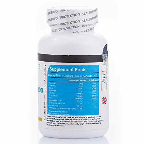 Vista Nutrition Vitamin B 100 Complex Supplements (100 Capsules)