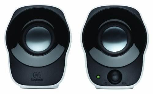 Logitech Z120 2.0 Channel 1.2 W Computer Speaker, White
