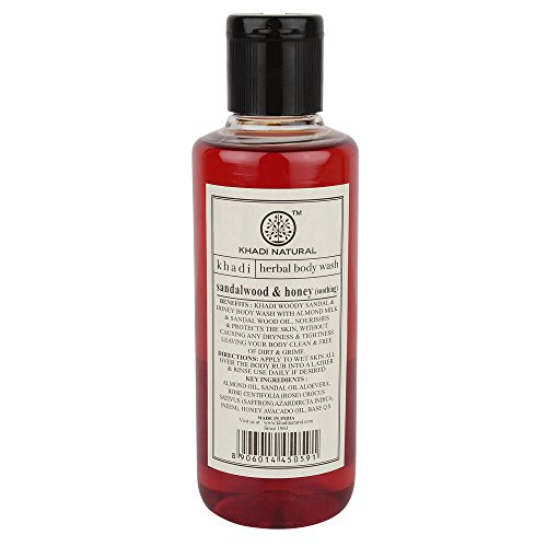 Khadi Sandal and Honey Body Wash, 210ml