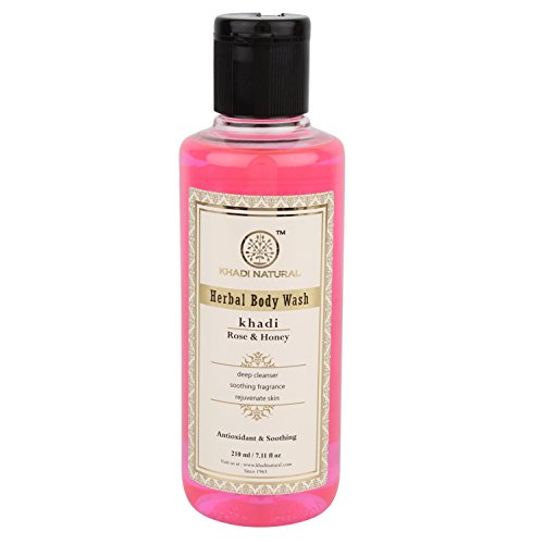 Khadi Herbal Rose and Honey Body Wash, 210ml