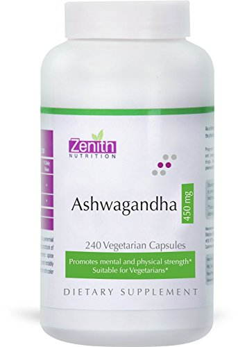 Zenith Nutrition Ashwagandha 450mg Supplements (240 Capsules)