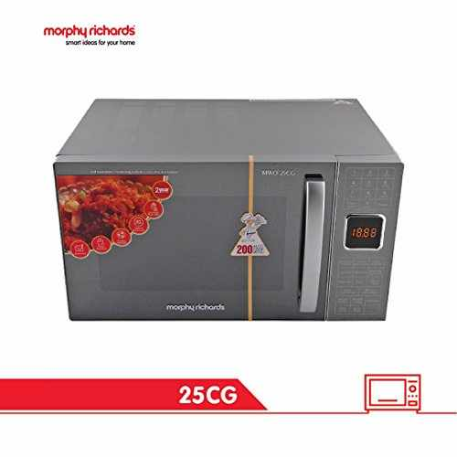 Morphy Richards 25CG with 200 ACM 25-Ltr Convection Microwave Oven Silver