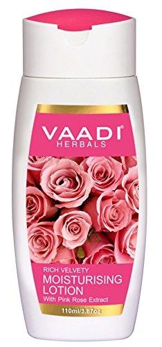 Vaadi Herbals with Pink Rose Extract Moisturising Lotion, 110 ML