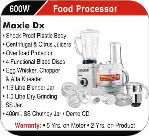 Inalsa Maxie Deluxe Food Processor