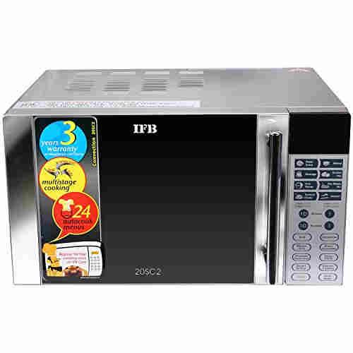 IFB 20SC2 20 Ltr 1200-Watt Convection Microwave Oven Metallic Silver