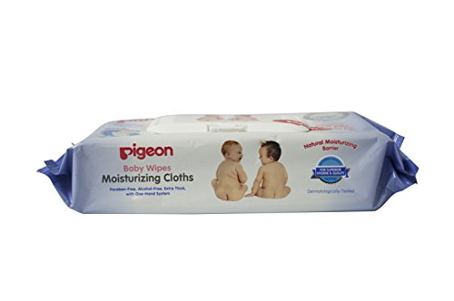 Pigeon Baby Moisturizing Wipes, 70 Pieces