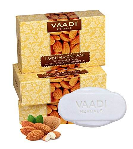Vaadi Herbals Lavish Almond Soap, 75 GM (Pack of 3)