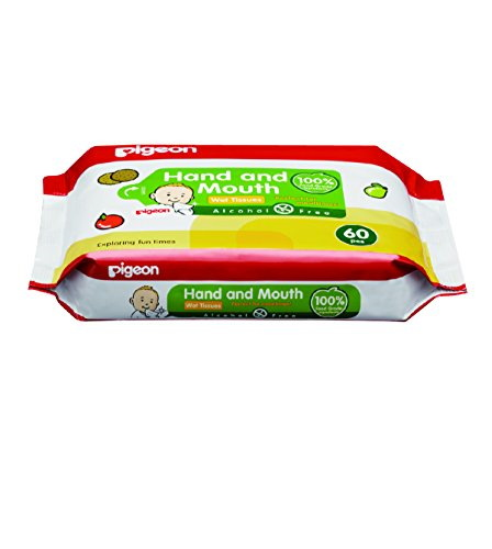Pigeon Face and Hand Baby Wipes, 60 Pieces (Pack Of 2)
