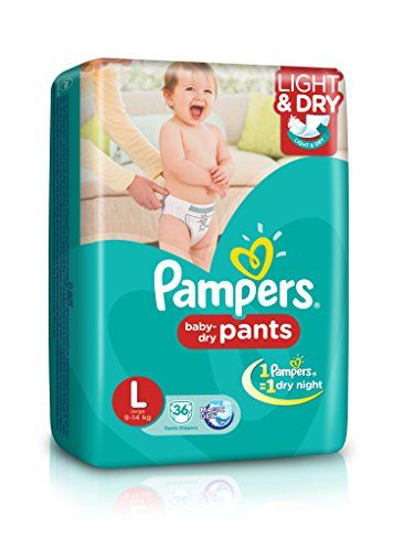 Pampers Pant Light And Dry L Diapers (36 Pieces)