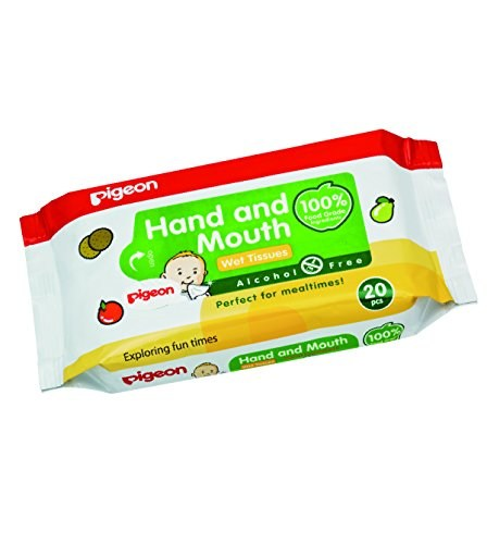 Pigeon Hand and Mouth Baby Wipes, 20 Pieces