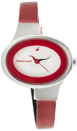 Fastrack NG6015SL01 Economy Analog White Dial Women's Watch (NG6015SL01)