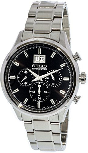 Seiko SPC083P1 Dress Analog Black Dial Men's Watch (SPC083P1)