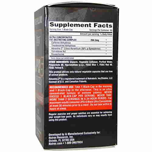Nutrex Lipo 6 Black Ultra Concentrate Diet Supplement (60 Capsules)