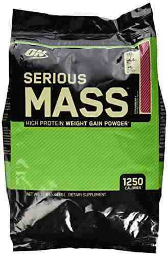 Optimum Nutrition Serious Mass (5.44Kg, Strawberry)